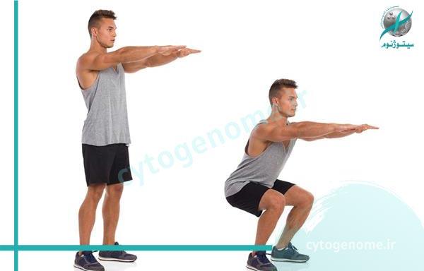 اسکات 10 تمرین برای تناسب اندام